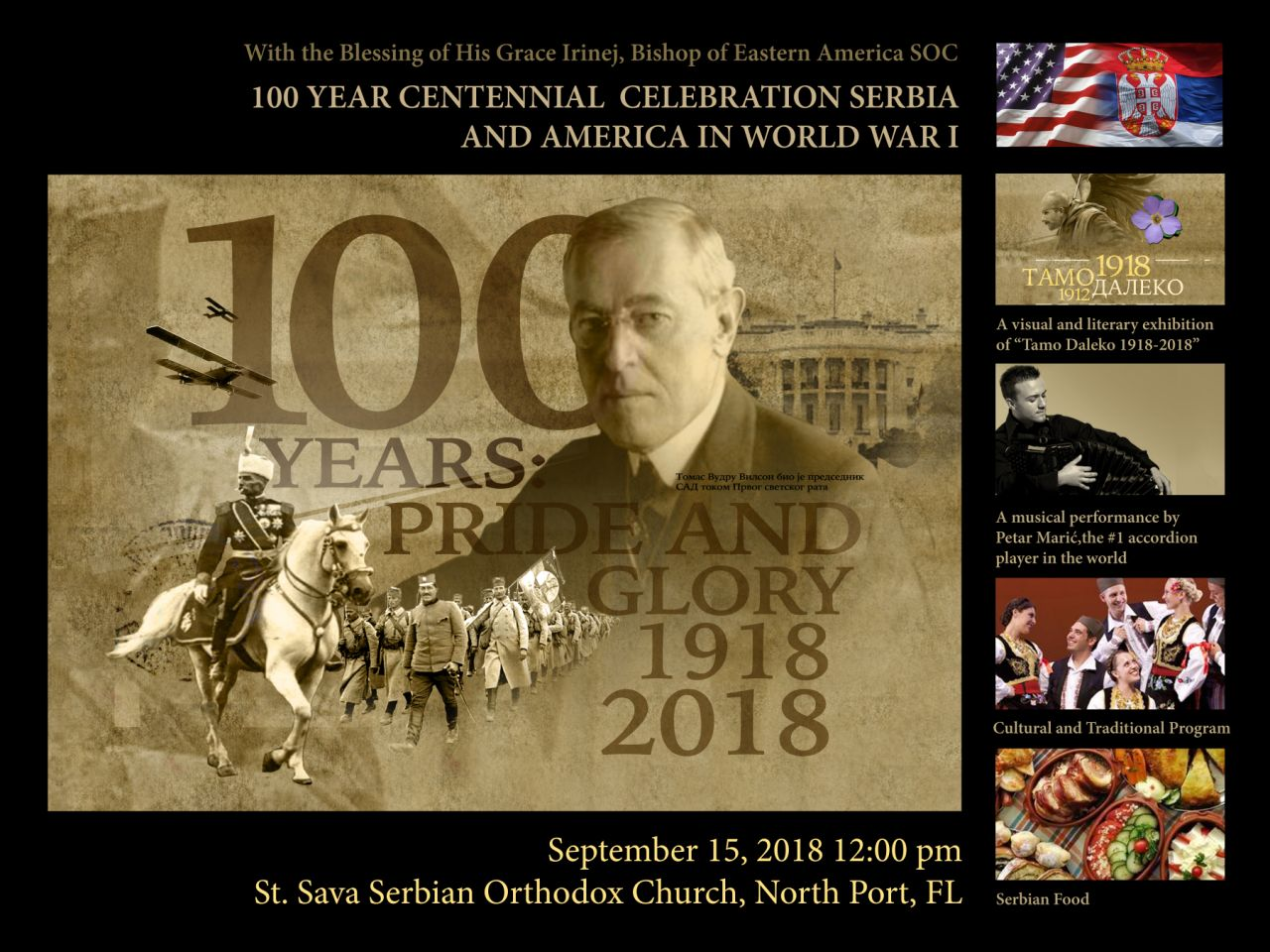 100th Anniversary When Serbian and U S  Flags Flew Together